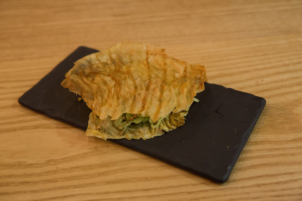 A cabbage sandwich at Semilla.