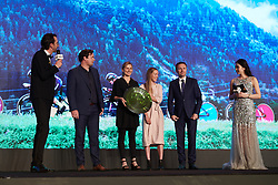 CANYON//SRAM Racing receive their award for their win at the World Championship Team Time Trial at The UCI Cycling Gala 2018 in Guilin, China on October 21, 2018. Photo by Sean Robinson/velofocus.com