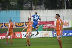 Milan Osterc of Gorica celebrate at football match of 35th Round of 1st Slovenian League between NK Hit Gorica and NK Nafta, on May 11, 2010, in Sportni park, Nova Gorica, Slovenia. (Photo by foto-forma/ Sportida)