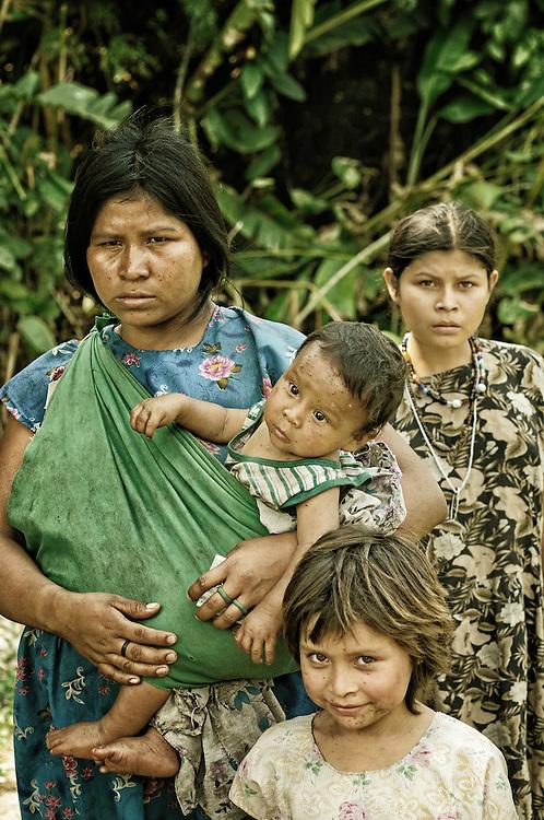 Native family.