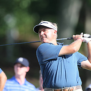 Defending champion Ken Duke in action during the first round of the Travelers Championship at the TPC River Highlands, Cromwell, Connecticut, USA. 19th June 2014. Photo Tim Clayton