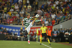August 23, 2017 - Bucharest, Romania - Fabio Coentrao, Sporting,  during the UEFA Champions League play-offs 2nd leg football match between FC Steaua Bucharest and Sporting Lisbon at the National Arena Stadium, in Bucharest, Romania on August 23, 2017. (Credit Image: © Alex Nicodim/NurPhoto via ZUMA Press)