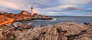 First Light of Dawn at the Portland Head Light, Portland Maine, USA