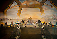 """National Gallery, Washington DC.Dali's """"The Last Supper"""" painting."""