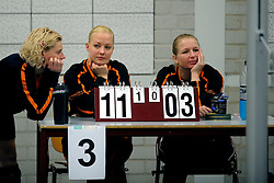 08-01-2011 VOLLEYBAL: ED ROOSEN ZITVOLLEYBALTOERNOOI 2011: LEERSUM<br /> Voller volleyball club organizes for the ninth consecutive time the Ed Roosen sitting volleyball tournament / Counters<br /> ©2011-WWW.FOTOHOOGENDOORN.NL