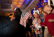 Sen. Orrin Hatch, R-Utah, speaks at the Utah Republican Party results party, Tuesday, Nov. 6, 2012.