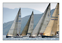 Bell Lawrie Scottish Series 2008. Fine North Easterly winds brought perfect racing conditions in this years event...Class 2 Start with GBR9369R Bataluer 97, IRL3550, Exultation, and IRL 789, Rosie