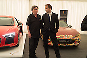 MIKE RUTHERFORD; BEN COLLINS, Preview for The London Motor Show, Battersea Evolution. London. 5 May 2016