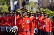 Military Guard Of Honour of Jamaica Defence Force outside Parliament in Kingston, Jamaica