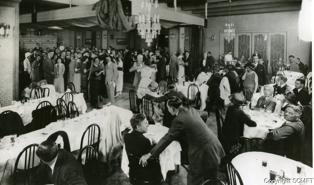 1930 Interior of Cafe Montmartre on Hollywood Blvd.
