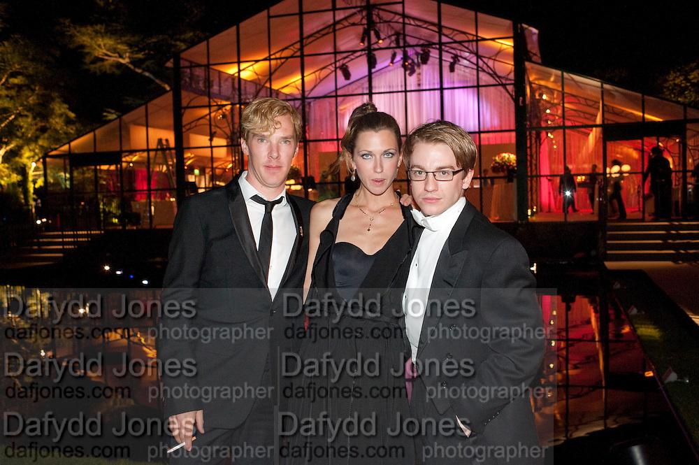 BENEDICT CUMBERBATCH; MARGOT STILLEY; STEVIE WEBB, Evgeny Lebedev and Graydon Carter hosted the Raisa Gorbachev charity Foundation Gala, Stud House, Hampton Court, London. 22 September 2011. <br /> <br />  , -DO NOT ARCHIVE-© Copyright Photograph by Dafydd Jones. 248 Clapham Rd. London SW9 0PZ. Tel 0207 820 0771. www.dafjones.com.