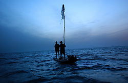 Fishing families in Nagapattinum district in Tamil Nadu, India    bring in their catch September ,2005. The recovery process is slow and the situation still grim for many of the worlds poorest who were most affected by the deadly wave.  (Ami Vitale)