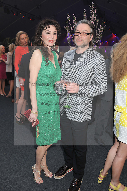 MARIE HELVIN and DAVID DOWNTON at Gabrielle's Gala an annual fundraising evening in aid of Gabrielle's Angel Foundation for Cancer Research held at Battersea Power Station, London on 2nd May 2013.