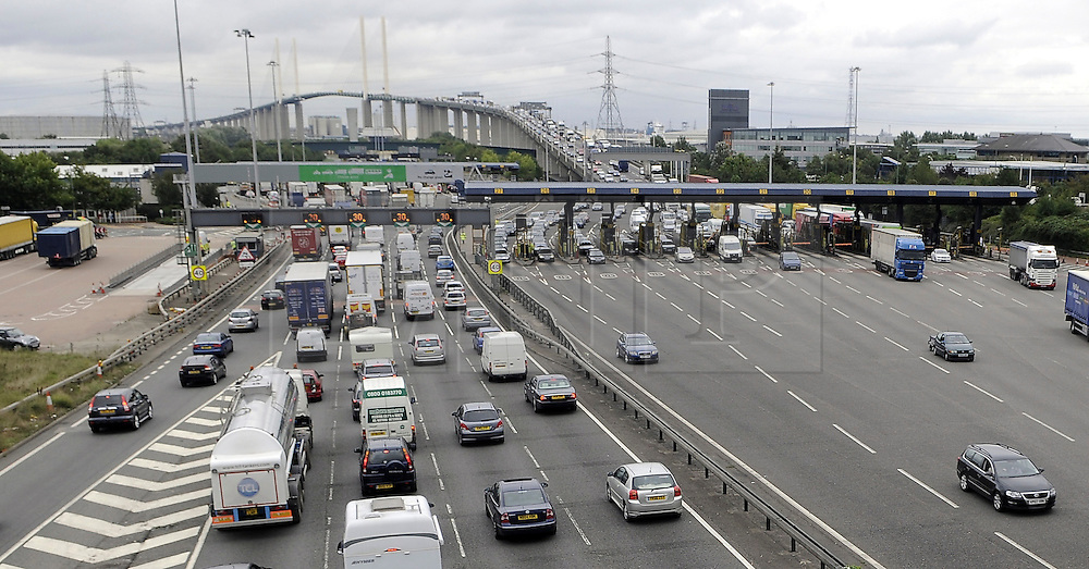 © under license to London News Pictures.  23.11.2010,Traffic jams at Dartford tolls have stopped investment in the local area says Local MP Gareth Johnson,The conservative MP has secured a parliamentary debate on the issue. The department of transport want to remove the Dartford Tolls by 2012.Traffic jams on the Kent side of the Dartford river crossing with Queen Elizabeth 2nd Bridge. Picture credit should read Grant Falvey/London News Pictures