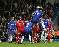Photo: Lee Earle.<br /> Chelsea v Middlesbrough. The Barclays Premiership.<br /> 03/12/2005. Chelsea's John Terry heads home their opening goal.