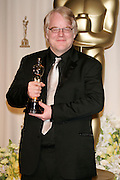 Mar 05, 2006; Hollywood, CA, USA; OSCARS 2006: <br /> <br /> PHILIP SEYMOUR HOFFMAN in the press room with his Oscar for 'Best Performance by an Actor in a Leading Role' for 'Capote' at the 78th Annual Academy Awards held at the Kodak Theatre in Hollywood <br /> ©Exclusivepix