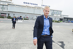 July 26, 2017 - Oostende, BELGIUM - Oostende's sports coordinator Karel Geraerts pictured at the departure of Belgian first division soccer team KV Oostende to Marseille, ahead of the first leg of the third qualifying round for the UEFA Europa League competition, Wednesday 26 July 2017 in Oostende. BELGA PHOTO LAURIE DIEFFEMBACQ (Credit Image: © Laurie Dieffembacq/Belga via ZUMA Press)