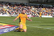 Cele -  Jon Parkin of Newport county (c) celebrates after he scores his teams 2ND goal to equalise at 2-2. EFL Skybet football league two match, Newport county v Cheltenham Town at Rodney Parade in Newport, South Wales on Saturday 10th September 2016.<br /> pic by Andrew Orchard, Andrew Orchard sports photography.