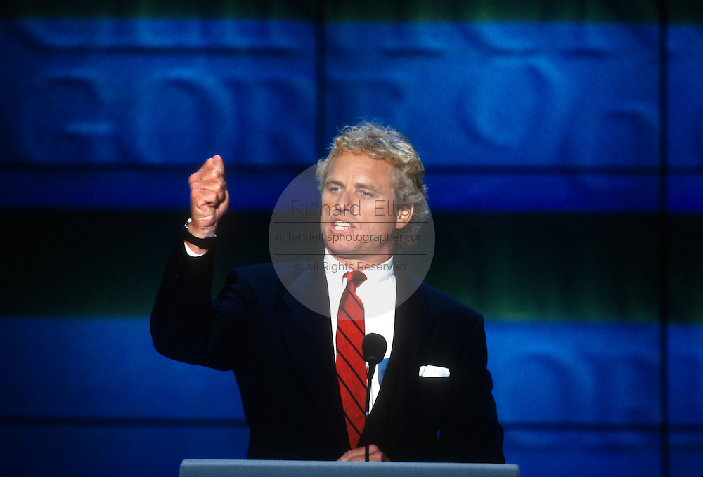 U.S Rep. Joseph Kennedy speaks at the 1996 Democratic National Convention August 29, 1996 in Chicago, IL.