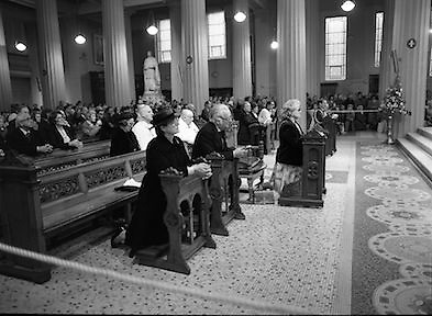 Princess Grace Requiem.1982.23.09.1982..09.23.1982.23rd September 1982.A requiem mass was held at the Pro Cathederal, Marlborough Street, Dublin ,for the repose of the soul of Her Majesty Princess Grace of Monaco..The mass was celebrated by The Papal Nuncio Most Rev.,Dr., Alabrandi. The homily was read by Monsignor John Moloney, P.P.Rathgar, Dublin. Lord Kilannin , Honorary Consol General of Monaco read a lesson at the mass. The Archbishop of Dublin Most Rev., Dr., Ryan and his auxiliary bishops were also taking part. Among the attendees were The Taoiseach, Mr Charles Haughey and his wife Maureen, former Taoisaigh Mr Jack Lynch and Mr Liam Cosgrave..The Diplomatic Corps were also represented.
