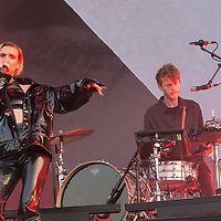 Swedish singer Lykke Li performs on the main stage of Sziget Festival held in Budapest, Hungary on Aug. 8, 2018. ATTILA VOLGYI