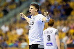 Dimitri Ignatow of Germany celebrates during handball match between National teams of Germany and Portugal in game for Third place of 2018 EHF U20 Men's European Championship, on July 29, 2018 in Arena Zlatorog, Celje, Slovenia. Photo by Urban Urbanc / Sportida