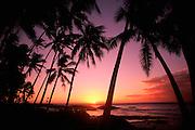 Sunset, Cape Mulinuu, Savaii, Samoa<br />