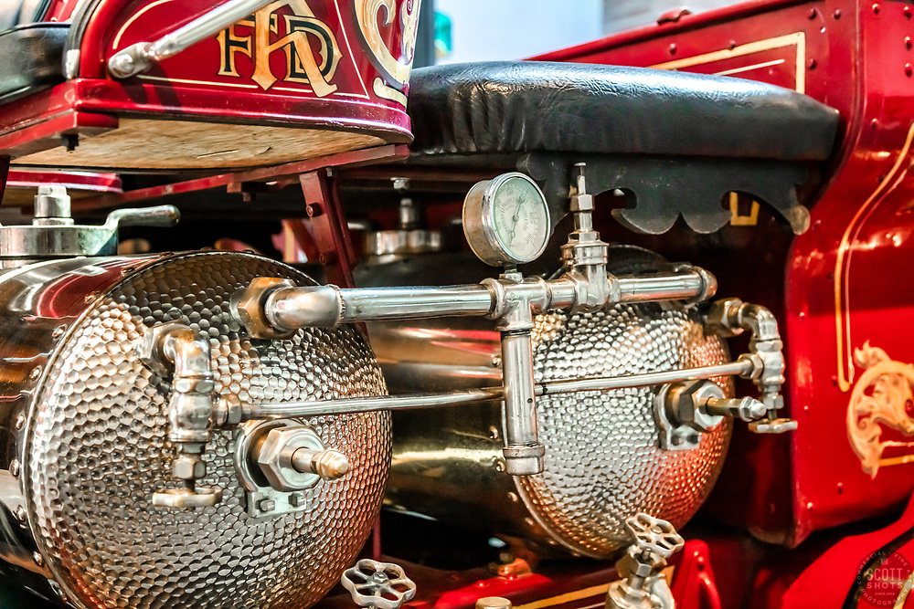 """""""Parts From The Past 47"""" - Abstract photograph of automobile parts, shot with special permission at the National Automobile Museum in Reno, Nevada. <br /> <br /> Available as prints but not as stock photography."""