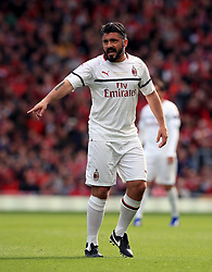 Milan's Gennaro Gattuso during the Legends match at Anfield Stadium, Liverpool.