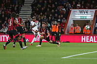 Football - 2018 / 2019 Premier League - AFC Bournemouth vs. Crystal Palace<br /> <br /> Patrick van Aanholt of Crystal Palace curls in Palaces equaliser at the Vitality Stadium (Dean Court) Bournemouth <br /> <br /> COLORSPORT/SHAUN BOGGUST