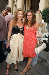 Left to right, KELLY HOPPEN and her daughter NATASHA CORRETT at the Tatler Summer Party 2006 in association with Fendi held at Home House, Portman Square, London W1 on 29th June 2006.<br />