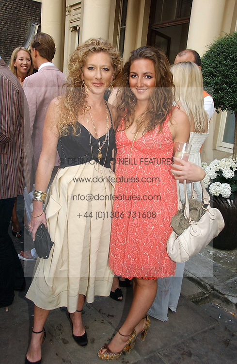 Left to right, KELLY HOPPEN and her daughter NATASHA CORRETT at the Tatler Summer Party 2006 in association with Fendi held at Home House, Portman Square, London W1 on 29th June 2006.<br /><br />NON EXCLUSIVE - WORLD RIGHTS
