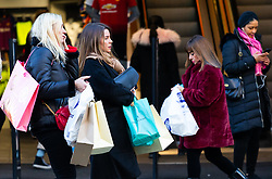 London's Oxford Street is busy with shoppers even though high street retailers are facing their quietest Christmas since the credit crunch. London, December 13 2018.