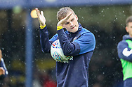 AFC Wimbledon attacker Marcus Forss (15) clapping whilst holding match ball during the EFL Sky Bet League 1 match between Southend United and AFC Wimbledon at Roots Hall, Southend, England on 12 October 2019.