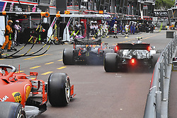 May 26, 2019 - Monte Carlo, Monaco - Motorsports: FIA Formula One World Championship 2019, Grand Prix of Monaco, ..Crash between #33 Max Verstappen (NLD, Aston Martin Red Bull Racing) and #77 Valtteri Bottas (FIN, Mercedes AMG Petronas Motorsport) in pitlane  (Credit Image: © Hoch Zwei via ZUMA Wire)