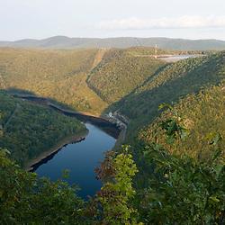 The Deerfield River in Rowe, Massachusetts.  Bear Swamp Upper Reservoir and Lower Reservoir.