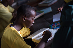 4 November 2019, Monrovia, Liberia: Students study in the library of Saint Peter's Lutheran School in Monrovia.