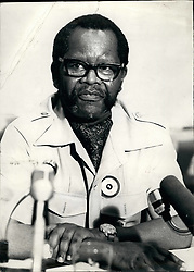 Feb. 28, 2012 - Oliver Tambo: South Africa: President of the banned African national congress of South Africa. Pictured in Daressalaam: Sept. 1976. Oliver Tambo, President of the African National Congress of South Africa. Exiled leader of the Nationalist movement since 1960. Credits: Camerapix (Credit Image: © Keystone Pictures USA/ZUMAPRESS.com)