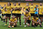Hurricanes players following the Super Rugby match, Hurricanes v Crusaders, Sky Stadium, Wellington, Sunday, April 11, 2021. Copyright photo: Kerry Marshall / www.photosport.nz