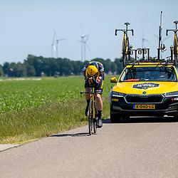 EMMEN (NED) June 16: <br /> CYCLING <br /> Mick Van Dijke (Netherlands / Team Jumbo Visma Academy) van Dijk (Nederlands Jumbo Visma Dev) dring the Dutch Nationals Timetrail around Emmen