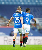 Football - 2020 / 2021 Scottish FA Cup - Round 3 - Glasgow Rangers vs Cove Rangers - Ibrox Stadium<br /> <br /> Kemar Roofe of Rangers celebrates scoring to make it 2-0<br /> <br /> Credit : COLORSPORT/BRUCE WHITE