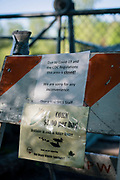 GREEN BAY, WISCONSIN - MAY 29, 2020: A sign prohibiting access to the floating boardwalk due to the COVID-19 pandemic restrictions is seen at the Bay Beach Wildlife Sanctuary in Green Bay, Wisconsin on Friday, May 29, 2020. CREDIT: Ben Brewer for the New York Times