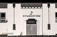 Old Camas Prairie school gynasium in sanders County, Montana, USA
