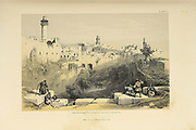 Pool of Bethesda from The Holy Land : Syria, Idumea, Arabia, Egypt & Nubia by Roberts, David, (1796-1864) Engraved by Louis Haghe. Volume 1. Book Published in 1855 by D. Appleton & Co., 346 & 348 Broadway in New York.