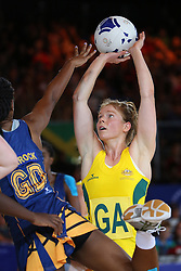 Glasgow, Scotland - July 27: <br /> <br /> Netball on Day 4 of the Glasgow 2014 Commonwealth Games at the SECC on July 26, 2014 in Glasgow, Scotland. <br /> <br /> Australia ( AUS ) Vs Barbados ( BAR )<br /> <br /> (Photo  by Marc Turner/Capture The Event)