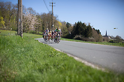 Sheyla Gutierrez Ruiz (ESP) of  Cyclance Pro Cycling leads the breakaway during the first lap of the Flèche Wallonne Femmes - a 137km road race from starting and finishing in Huy on April 20, 2016 in Liege, Belgium.