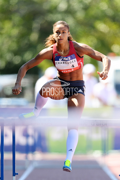 Aurelie Chaboudez competes in women 400m hurdles during the Athletics French Championships 2018, in Albi, France, on July 7th, 2018 - Photo Philippe Millereau / KMSP / ProSportsImages / DPPI