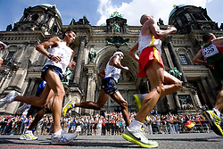 Athletes compete in the men's 42km Marathon Race during the 2009 IAAF Athletics World Championships on August 22, 2009 in Berlin, Germany. (Photo by Vid Ponikvar / Sportida)