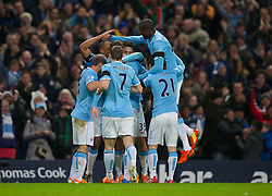 15.02.2014, Etihad Stadion, Manchester, ESP, FA Cup, Manchester City vs FC Chelsea, Achtelfinale, im Bild Manchester City's xxxx, action against Chelsea // during the English FA Cup Round of last 16 Match between Manchester City and FC Chelsea at the Etihad Stadion in Manchester, Great Britain on 2014/02/15. EXPA Pictures © 2014, PhotoCredit: EXPA/ Propagandaphoto/ David Rawcliffe<br /> <br /> *****ATTENTION - OUT of ENG, GBR*****