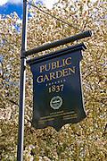 Sign at the Public Garden, Boston, Massachusetts